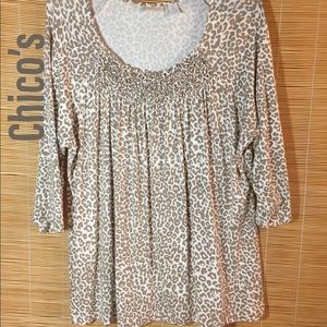 Chico's animal print top 3=16XL